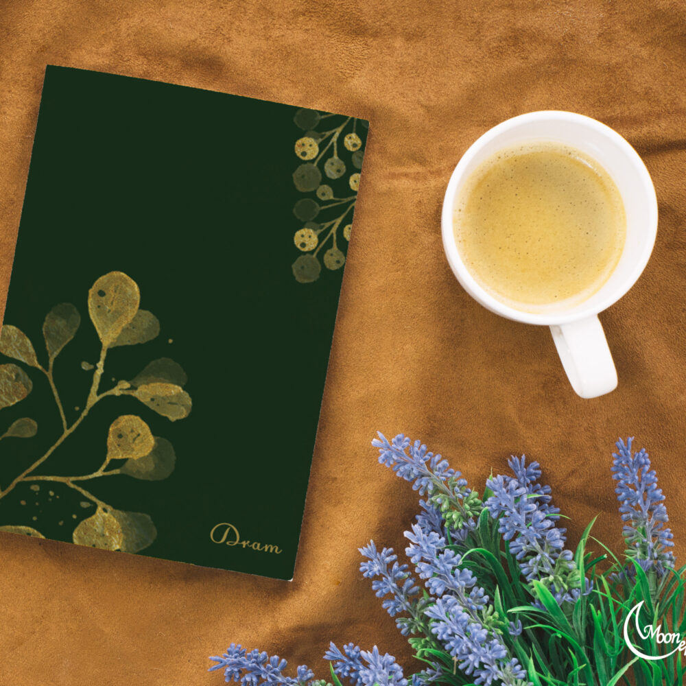 Golden leaves notebook