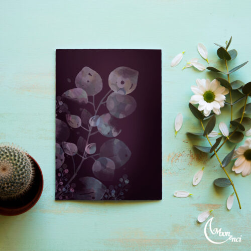 Soft leaves notebook